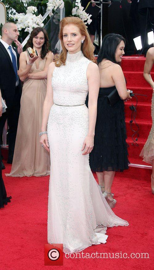 Jessica Chastain, Golden Globe Awards and Beverly Hilton Hotel 5