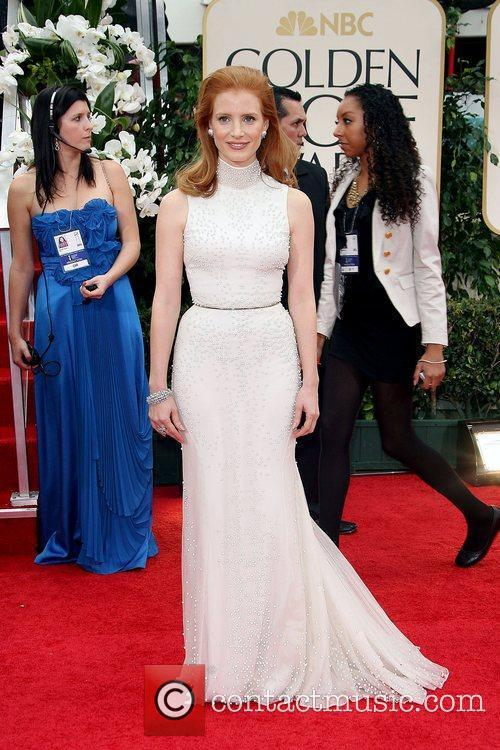 Jessica Chastain, Golden Globe Awards and Beverly Hilton Hotel 1