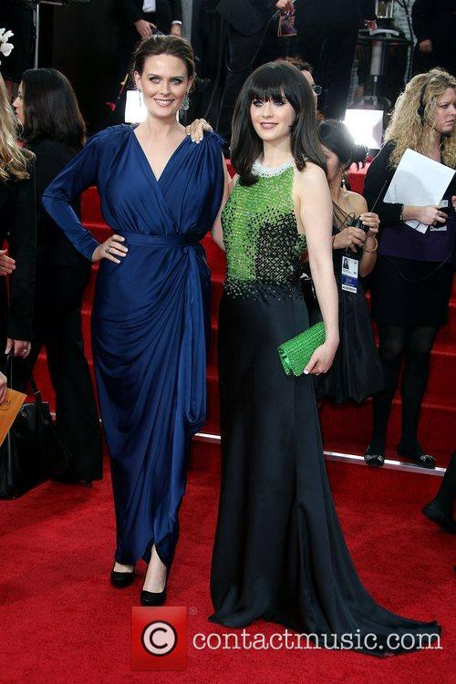 Emily Deschanel, Zooey Deschanel, Golden Globe Awards and Beverly Hilton Hotel 5