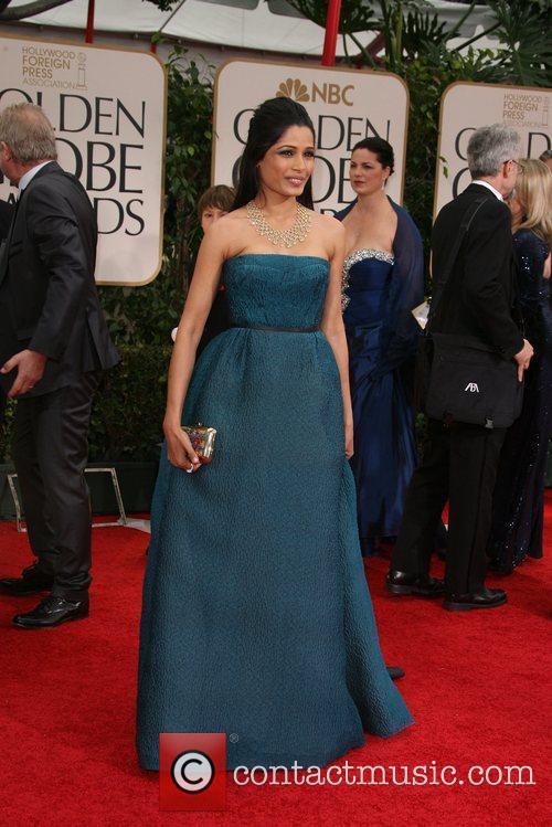 Freida Pinto, Golden Globe Awards and Beverly Hilton Hotel 3