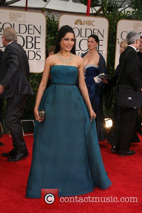 Freida Pinto, Golden Globe Awards and Beverly Hilton Hotel 4