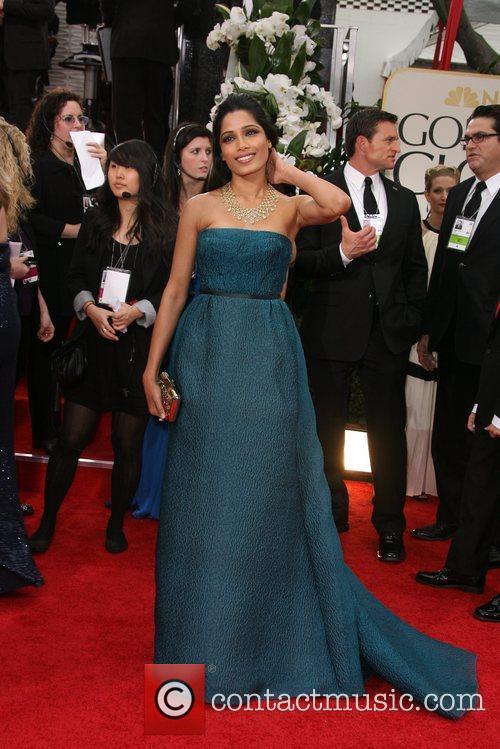 Freida Pinto, Golden Globe Awards and Beverly Hilton Hotel 1