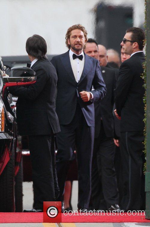 Gerard Butler and Beverly Hilton Hotel 8