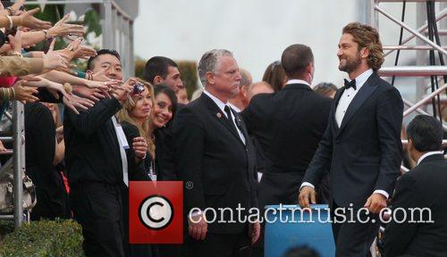 Gerard Butler and Beverly Hilton Hotel 13