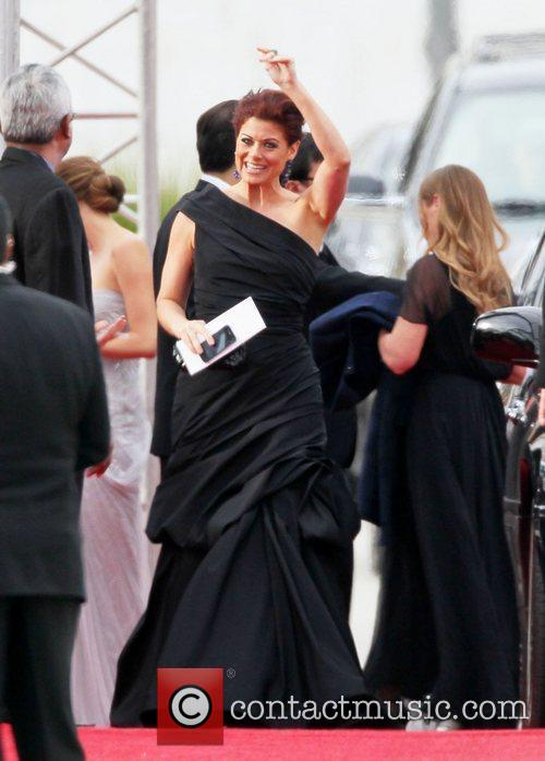 Debra Messing, Golden Globe Awards and Beverly Hilton Hotel 3