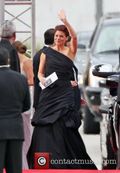 Debra Messing, Golden Globe Awards and Beverly Hilton Hotel 5