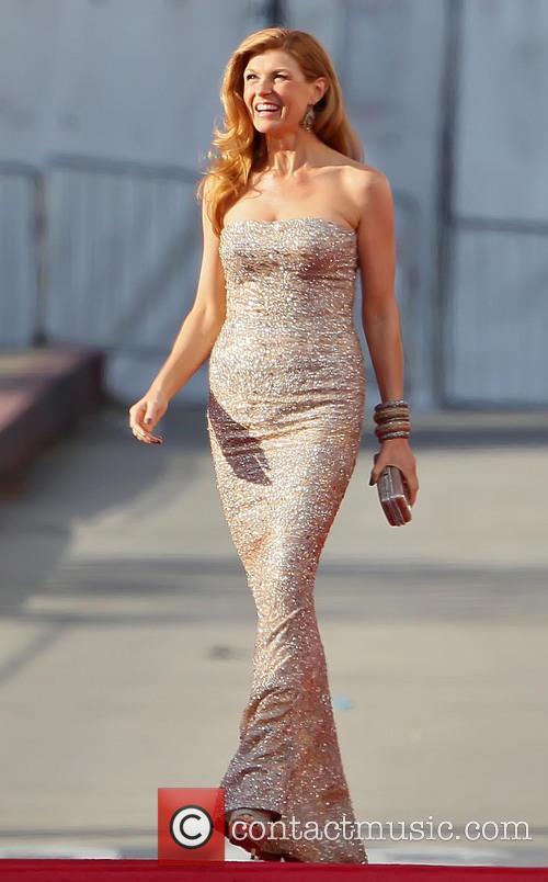 Connie Britton Golden Globes Dress 2013