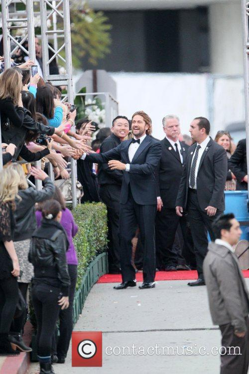 Gerard Butler, Golden Globe Awards and Beverly Hilton Hotel 5