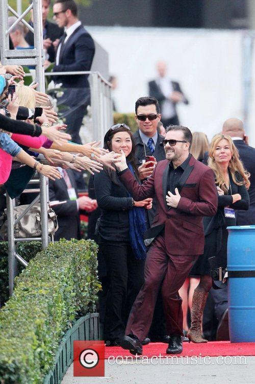 Ricky Gervais, Golden Globe Awards and Beverly Hilton Hotel 8