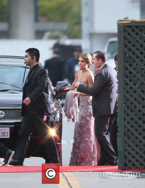 Jessica Alba, Golden Globe Awards and Beverly Hilton Hotel 1