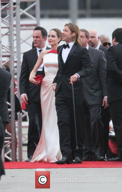 Angelina Jolie, Brad Pitt, Golden Globe Awards, Beverly Hilton Hotel