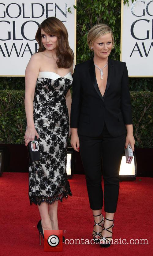 Tina Fey, Amy Poehler at the Golden Globes