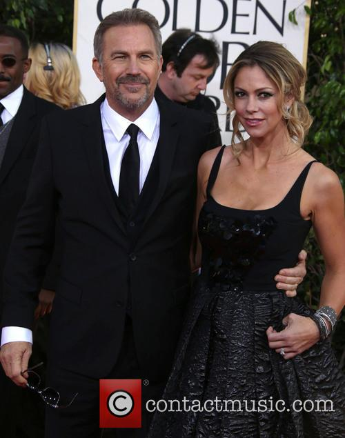 Kevin Costner, Christine Baumgartner and Beverly Hilton Hotel 1