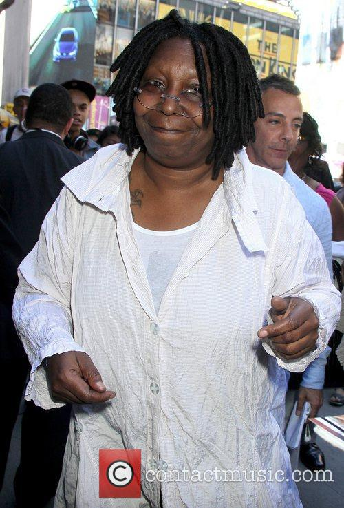 Whoopi Goldberg outside the 'Good Afterrnoon America' studios...