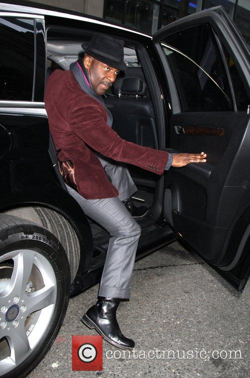 Bebe Winans Celebrities leaving the FOX studios after...