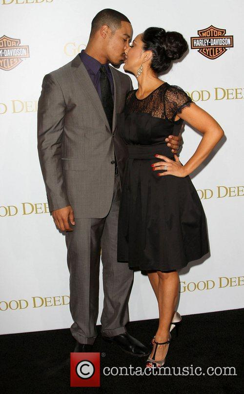 Brian White and Guest Lionsgate's Good Deeds Premiere...