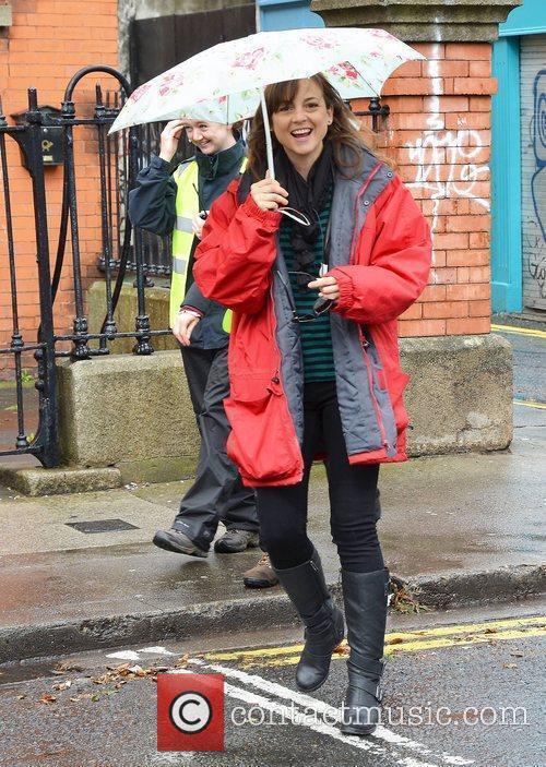 Leonor Watling filming scenes for her new movie...