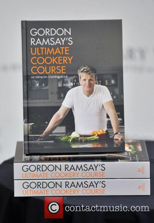 Gordon Ramsay signs his book 'Gordon Ramsay's Ultimate...
