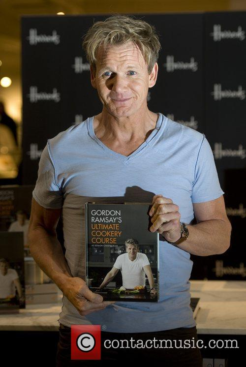 Gordon Ramsay signs copies of his latest book...