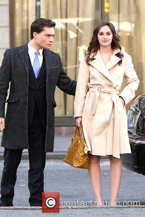 Ed Westwick and Leighton Meester