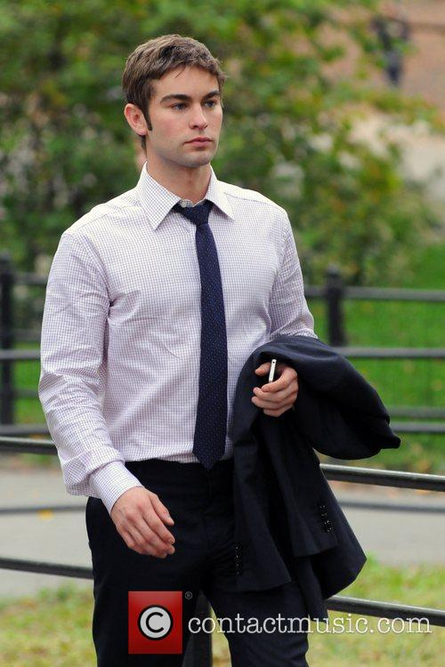 Chase Crawford The cast of 'Gossip Girl' filming...
