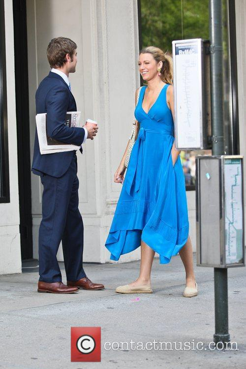 chace crawford and blake lively filming the 5879827