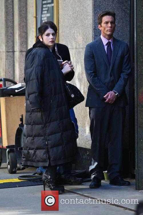 Michelle Trachtenberg on the set of 'Gossip Girl...