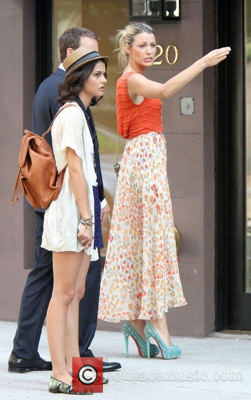 Filming the new season of 'Gossip Girl' in...