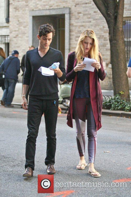 Blake Lively and Penn Badgley 2
