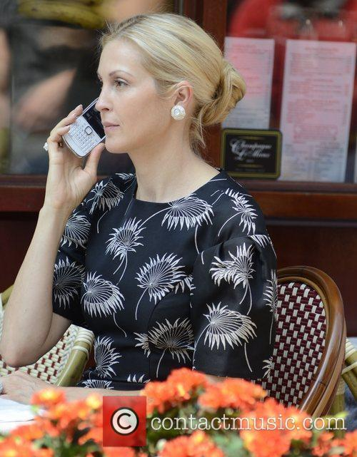 Kelly Rutherford filming on the set of 'Gossip...