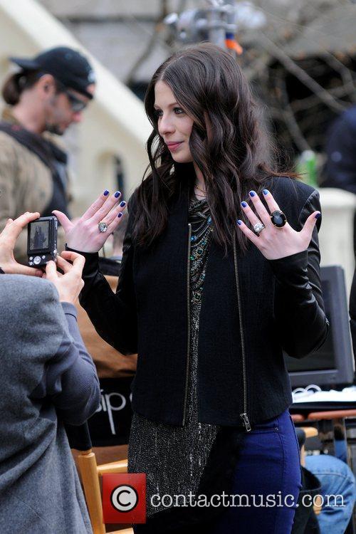 Filming scenes for 'Gossip Girl' in Queens