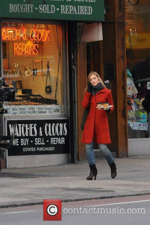 On the set of 'Gossip Girl' in Manhattan