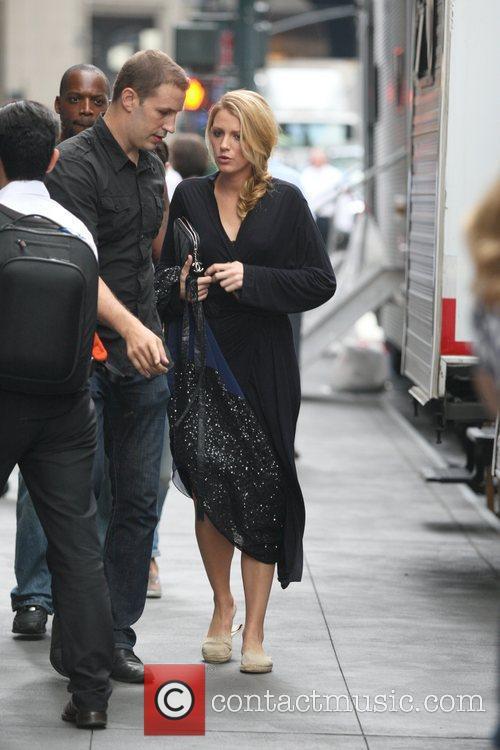 On the set of 'Gossip Girl' in Midtown,...