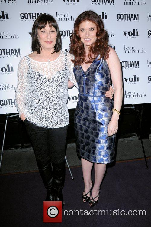Angelica Huston and Debra Messing 3