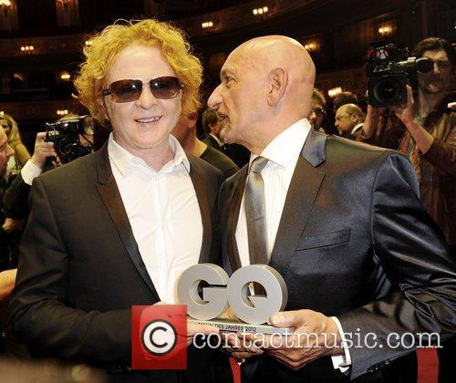 Mick Hucknall and Ben Kingsley 1