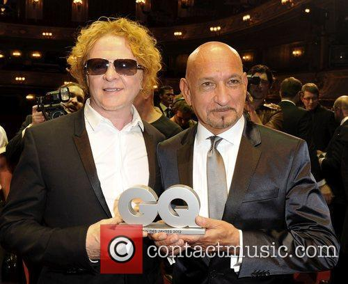 Mick Hucknall and Ben Kingsley 2