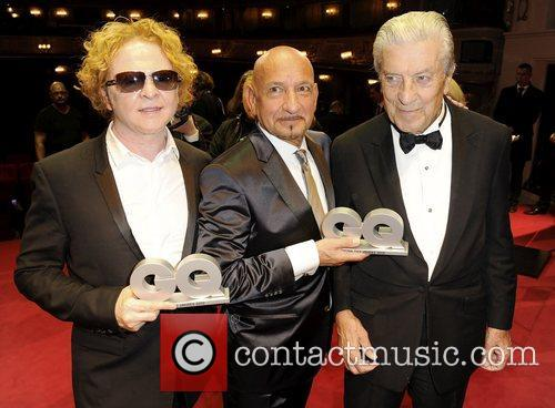Mick Hucknall, Ben Kingsley and Nino Cerruti