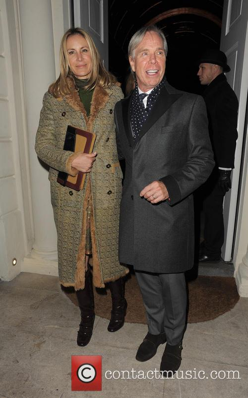 Tommy Hilfiger and his wife Dee Ocleppo leaving...