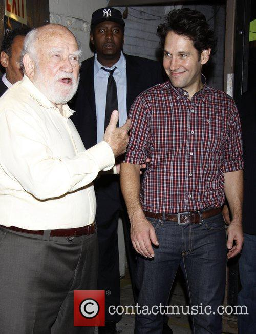 Ed Asner and Paul Rudd attending the first...