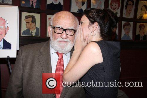 Ed Asner and Kate Arrington at the portrait...