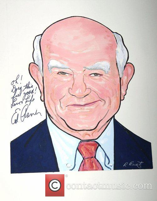 Ed Asner at the portrait unveiling for the...