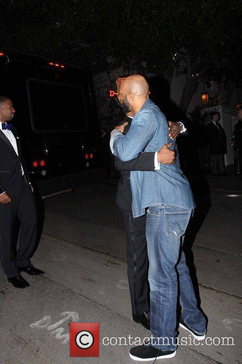 Celebrities arrive at the Chateau Marmont for a...