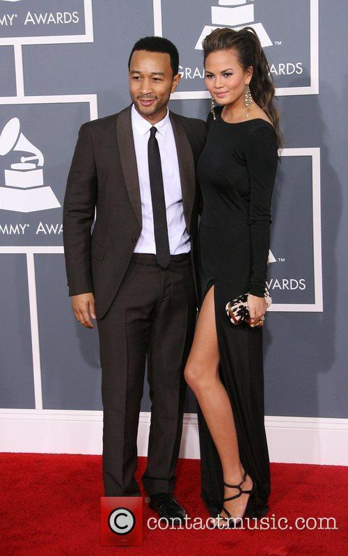 John Legend, Christine Teigen, Grammy Awards and Grammy 3