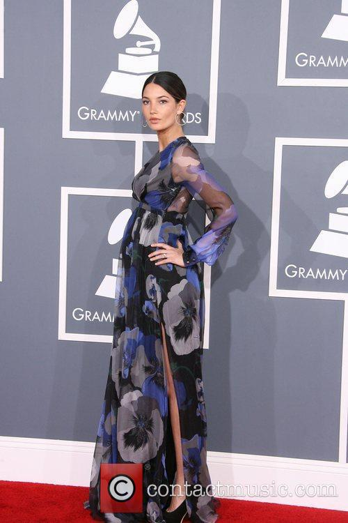 Lily Aldridge and Grammy 5