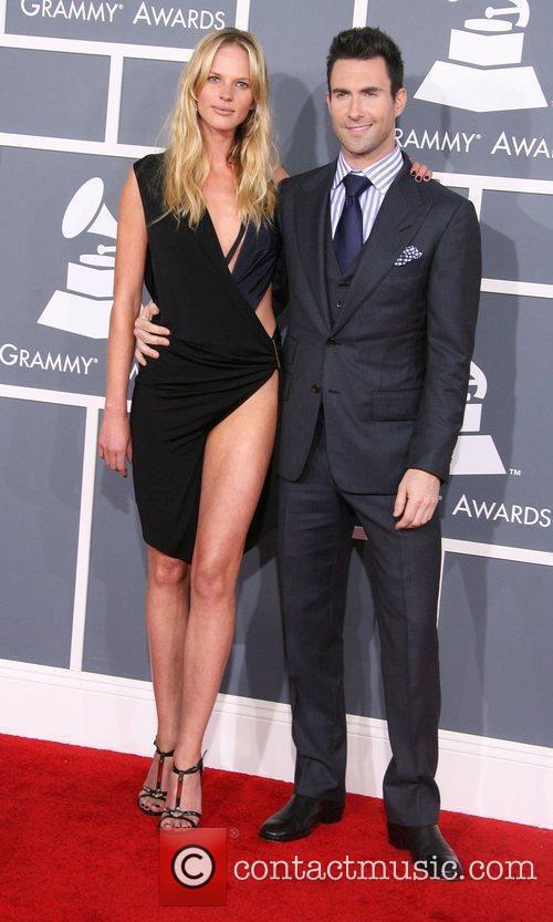 Adam Levine and girlfriend Anne V 54th Annual...
