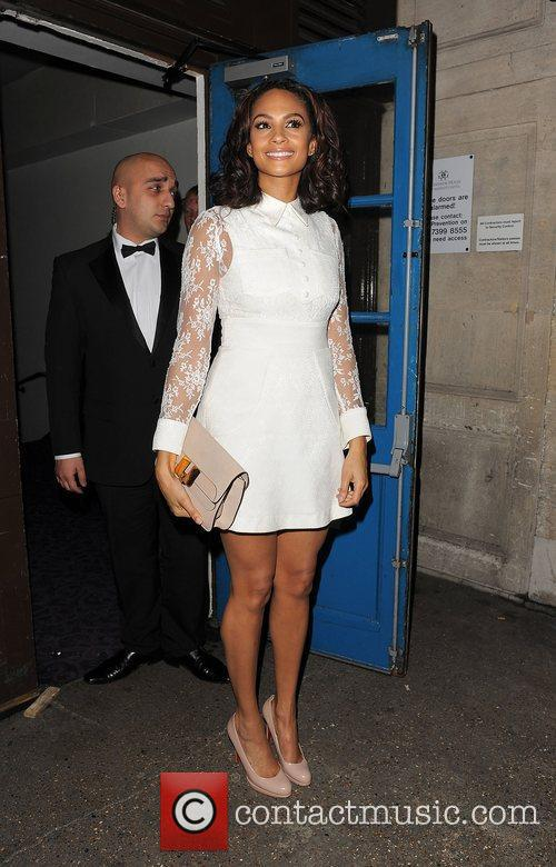 Alesha Dixon leaving Grosvenor House Hotel.