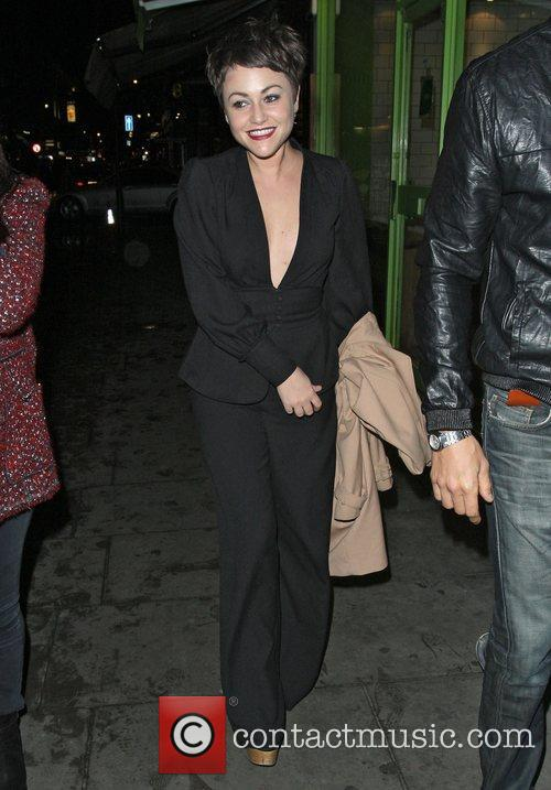 Jaime Winstone leaving the Groucho Club. London, England