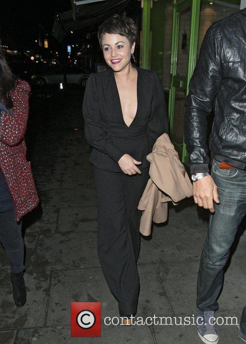 Jaime Winstone leaving the Groucho Club.