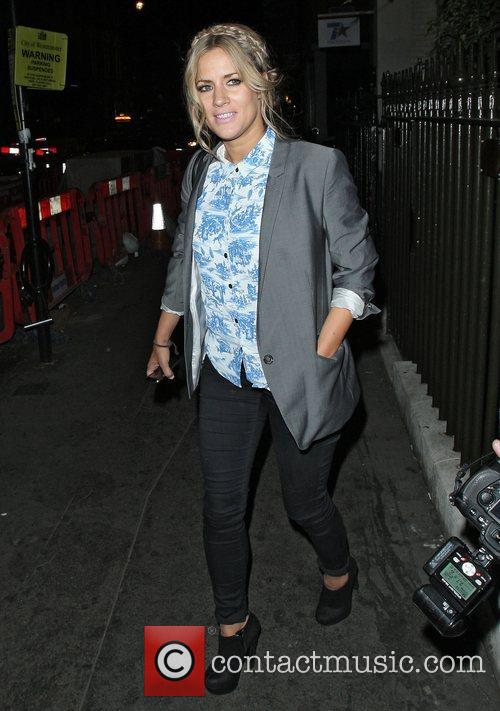Leaving the Groucho Club in Soho.