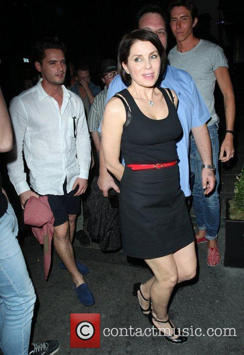 Sadie Frost arriving at the Groucho Club